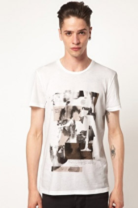 cheap-monday-t-shirt-with-clip-art-print