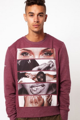 ROCK & REVIVAL WHIZZ SWEATSHIRT Red