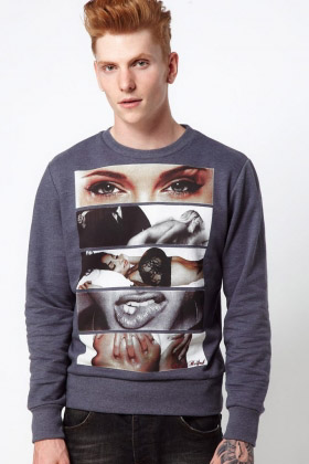 ROCK & REVIVAL WHIZZ SWEATSHIRT Dark